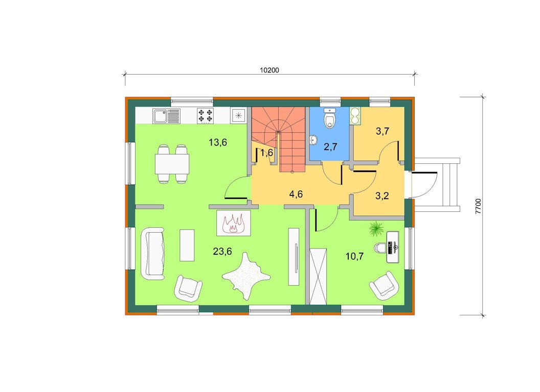 Базовый, план 1 этажа